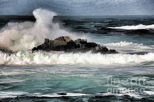 Chuck Kuhn - Paint Digital Wild Waves Shore
