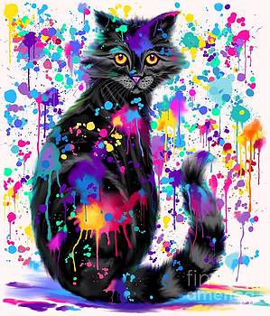 Nick Gustafson - Paint with Colorful Cat