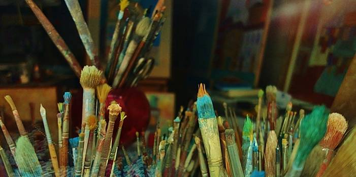 Paintbrushes in Venice by C Lythgo