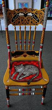 Painted Cat Chair by Andrea Ellwood