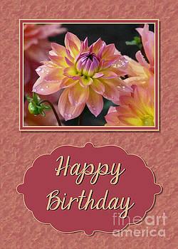JH Designs - Painted Dahlia Birthday