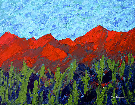 Painted Desert Mountains by Dick Bourgault