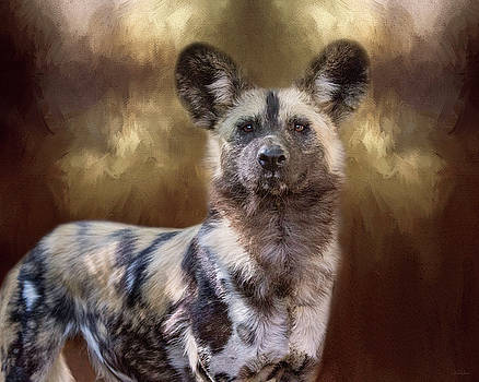 Painted Dog Portrait II by Nicole Wilde