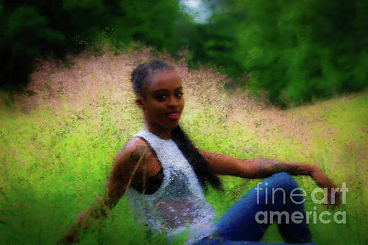 Painted Golden Grass and Blue Jeans by JB Thomas