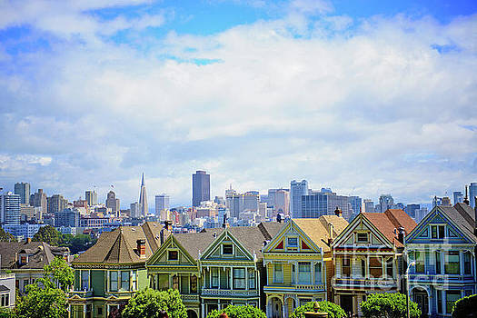 Painted Ladies of Alamo Square by Anna Serebryanik
