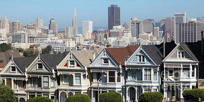 Wingsdomain Art and Photography - Painted Ladies of Alamo Square San Francisco California 5D27996  Panoramic