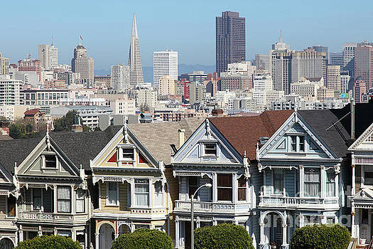 Wingsdomain Art and Photography - Painted Ladies of Alamo Square San Francisco California 5D27996v2