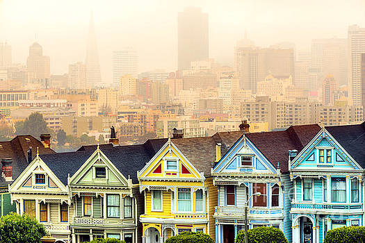 Painted ladies of San Francisco by Luciano Mortula