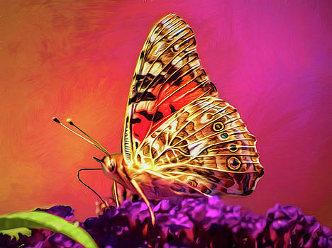 Painted Lady Butterfly by Diane Schuster