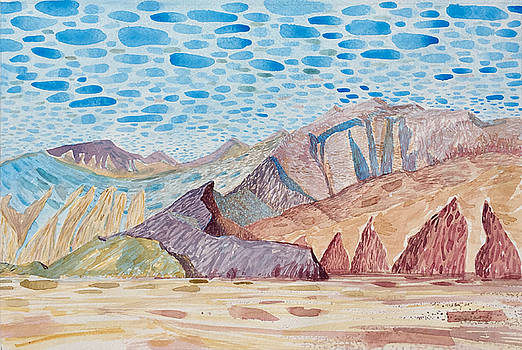 Painted Mountain II by Vaughan Davies