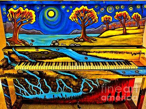 Painted Piano by Christy Ricafrente