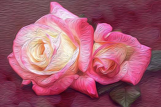 Painted Rose Pair by Vanessa Thomas