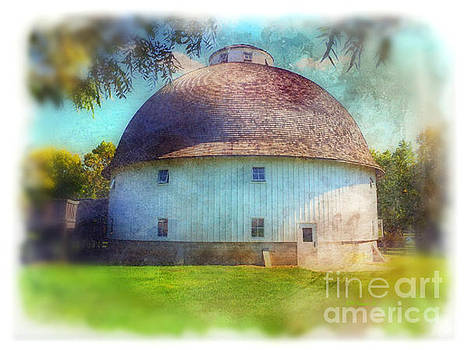 Painted Round Barn by Kathy M Krause