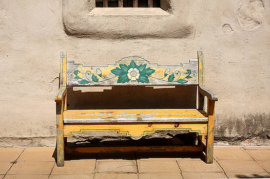 Art Block Collections - Painted Sunflower Bench