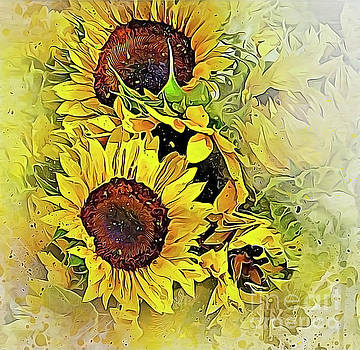 Painted Sunflowers by Brian Tarr