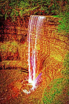 Painted Tews Falls by Daniel Thompson