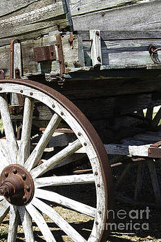Painted Wagon - Old West Trails N831 by Ella Kaye Dickey