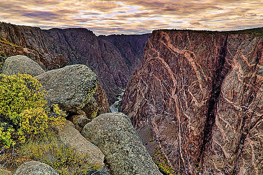 Painted Wall at Black Canyon of the Gunnison - Colorado - Landscape by Jason Politte