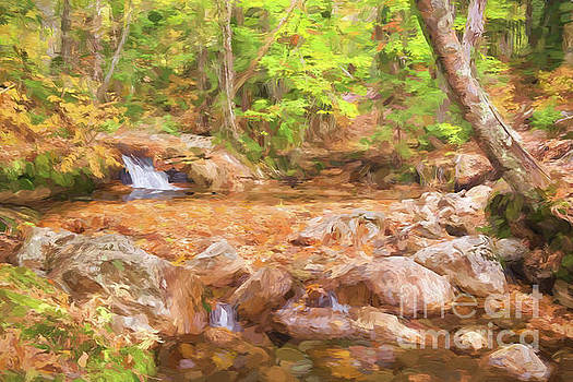 Painted Waterfall Foliage by Sharon Seaward