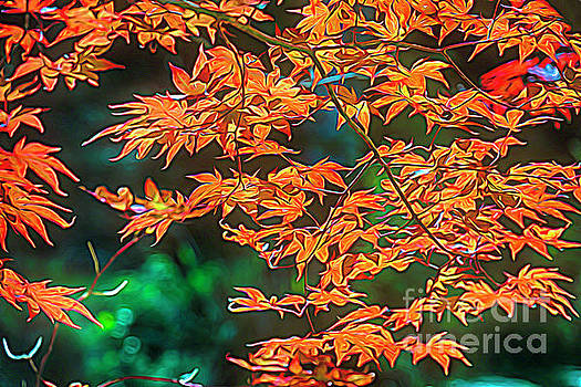Painterly Leaves by George Oze