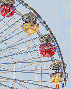 Painterly Ride vertical by Cheryl Del Toro