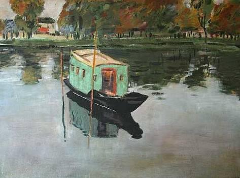 Painters Boat by Garnett Thompkins