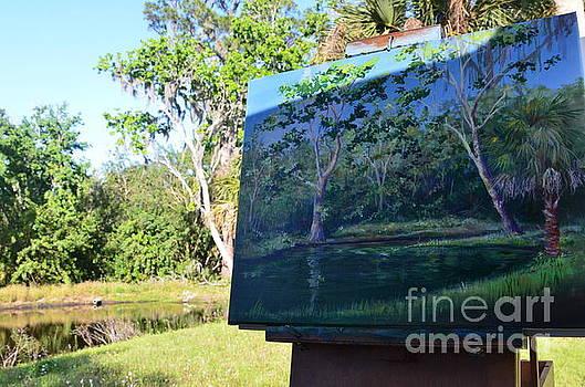 Painting Croton Pond by AnnaJo Vahle