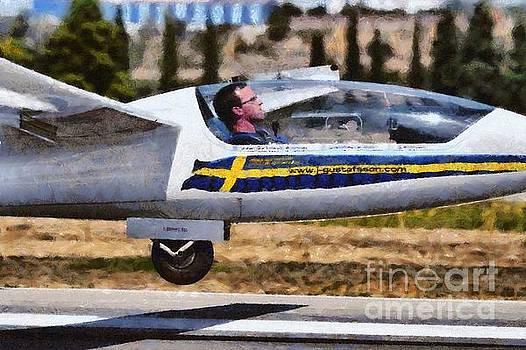 George Atsametakis - Painting of Johan Gustafsson in his glider