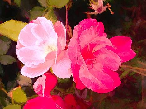 Painting Of Roses by Debra Lynch