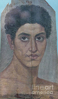 Painting of young Egyptian man AD 80-120 by Patricia Hofmeester
