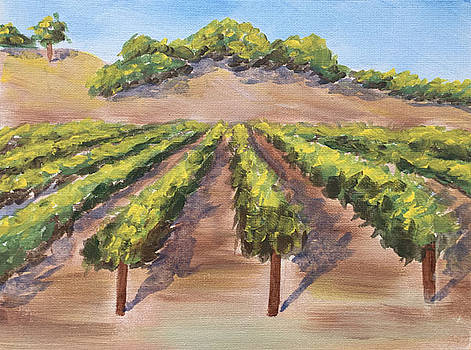 Painting Party Vineyard by Nancy Goldman