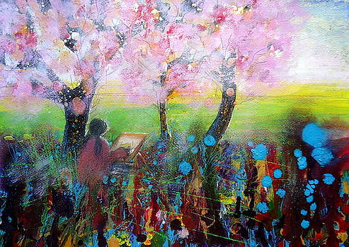 Painting the Blossom by Ruth Gray