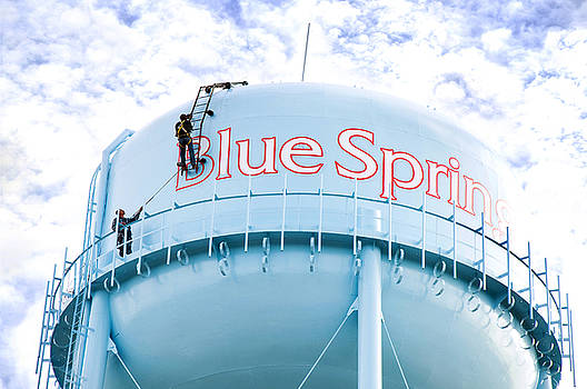 Andee Design - Painting The Blue Springs Water Tower