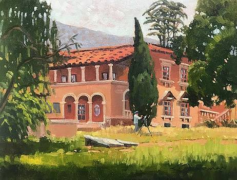 Painting the Villa by Lynne Fearman