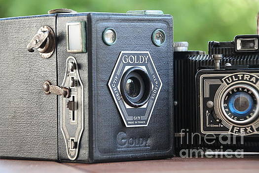 Painting with light ....vintage cameras  by Lynn England