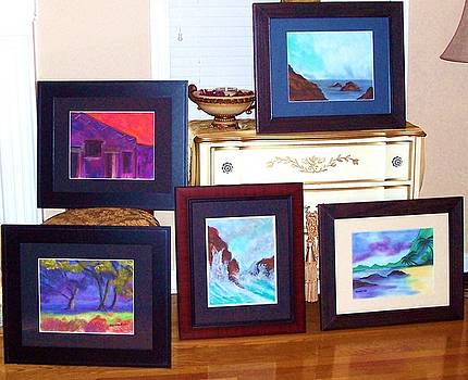 Paintings for Art Exhibit by Peggy Leyva Conley