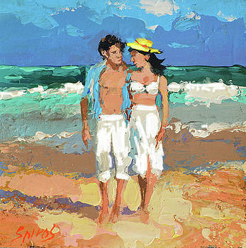 Pair by the sea by Dmitry Spiros