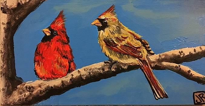 Pair of Cardinals by Julie K Ross