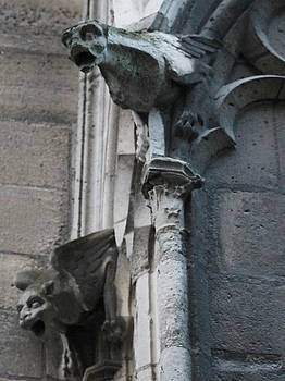 Pair of Griffons of Notre Dame by Christopher Kirby