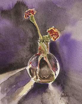Pair of Marigolds by Gretchen Bjornson