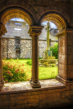 Paisley Abbey Cloisters In Colour by Tylie Duff