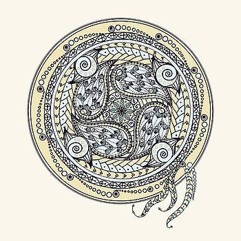 Paisley Balance Mandala by Deborah Smith