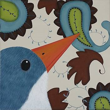 Paisley Bird-Blue by Clover Moon Designs Peggy Sowers-Heckman