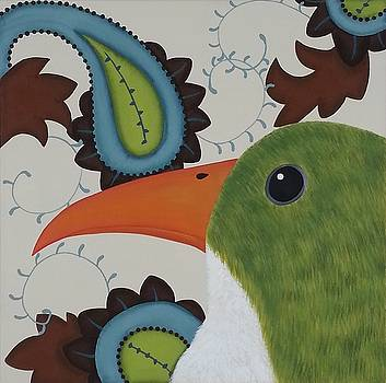 Paisley Bird-Green by Clover Moon Designs Peggy Sowers-Heckman
