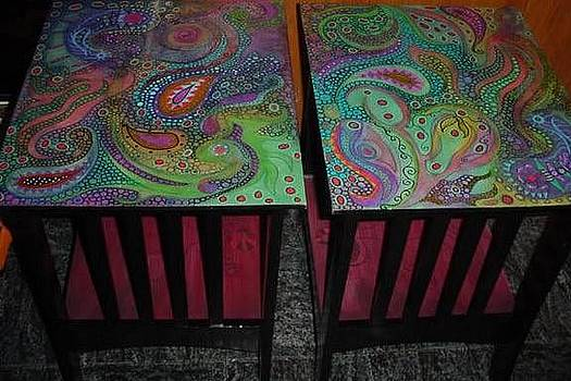 Paisley Pond End Tables by Rick Cheadle