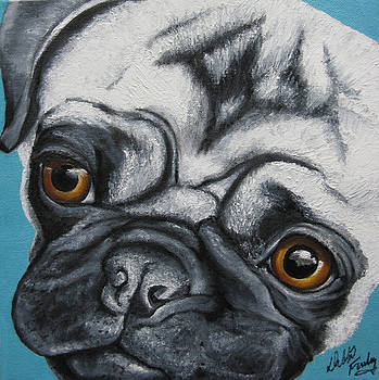 Paisley Pug by Debbie Finley