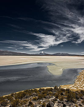 Sajama In the distance by Ron Dubin