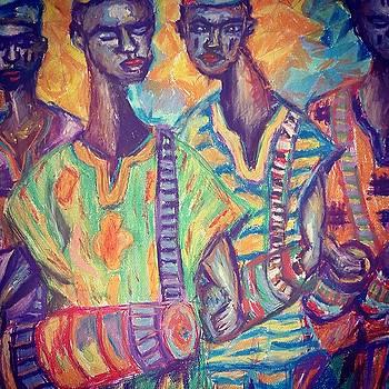Palace Drummers  by Adekunle Ogunade