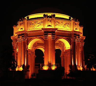 Palace of Fine Arts - Dome at Night by Lawrence Pratt