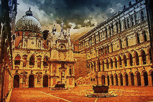 Palace painting by PixBreak Art